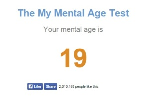Results of the mental age test